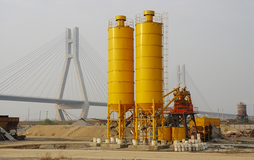 Zhongyi Construction Machinery concrete mixing plant, used for key project of the Runyang Bridge