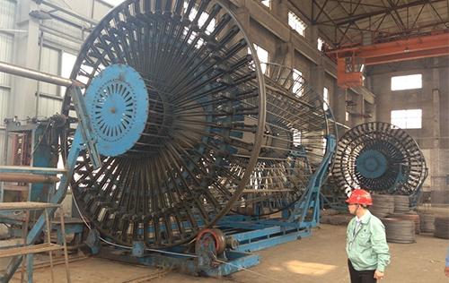 Shanghai steel pipe factory double 4 meters welding production field
