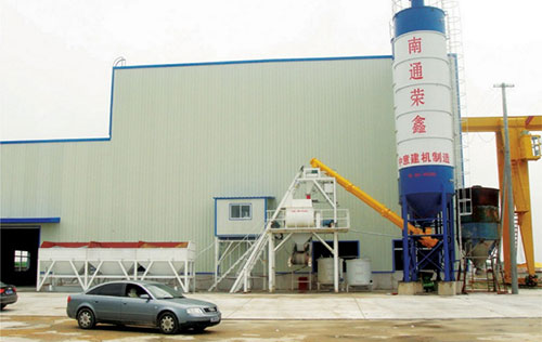 HZS50 mixing plant is used in the core-mould vibration line of Nantong Rongxin