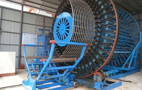 The largest diameter with double reinforcement stick automatic welding machine in domestic