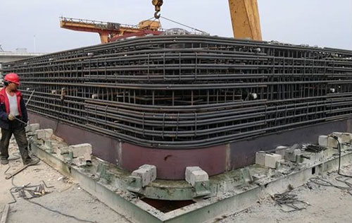 Precast pipe jacking framework used in Suzhou production site