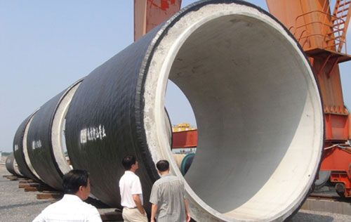 Ф4000mm pre-stressed steel cylinder concrete pipeused for the South-to-Nortnh Water Diversion Project