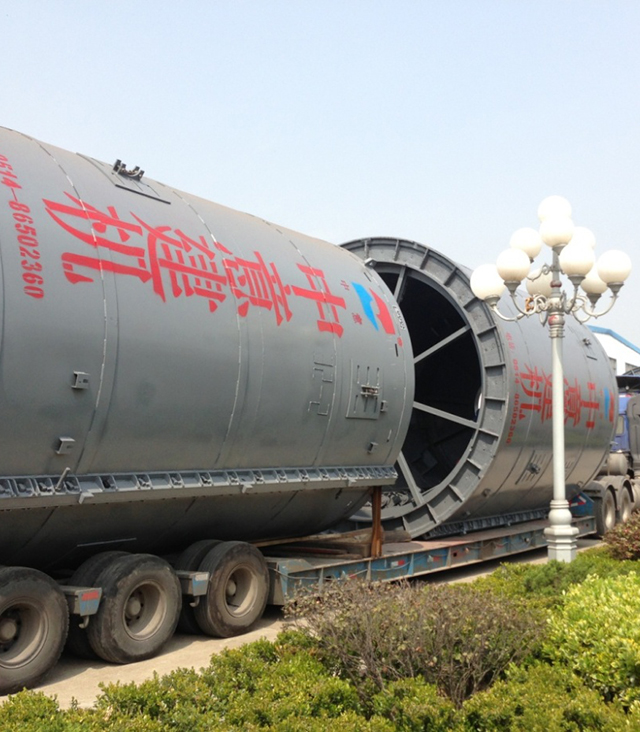 Reinforced concrete pipe mold (delivery site)