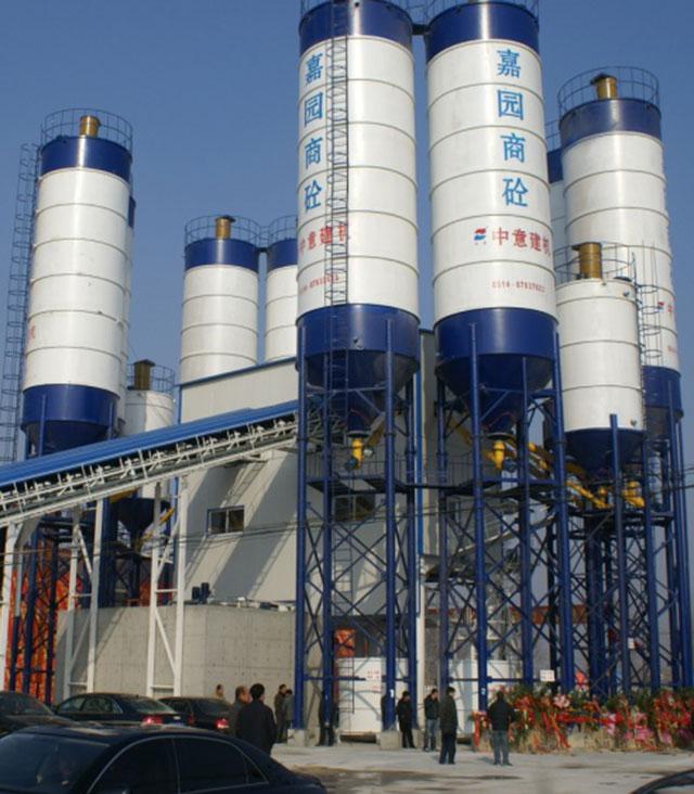 HZS120×2 Concrete Mixing Plant