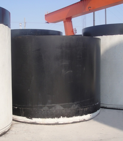 Steel hub joint concrete reinforced pushing pipe